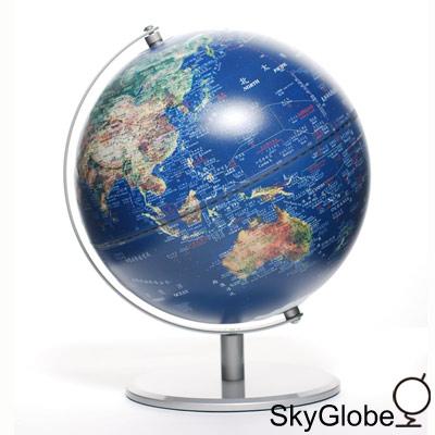 SkyGlobe 10吋衛星金屬手臂地球儀(中英文版)