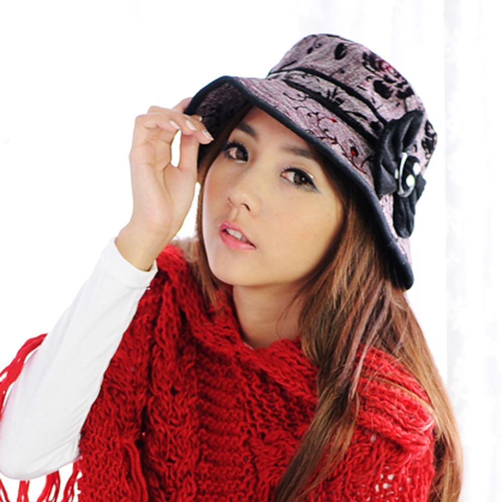 Aimee Toff 玫瑰韻織公主遊外造型漁夫帽(棕紅)