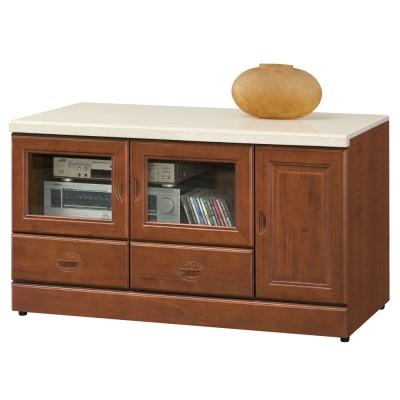 時尚屋 長榮4尺樟木石面電視櫃