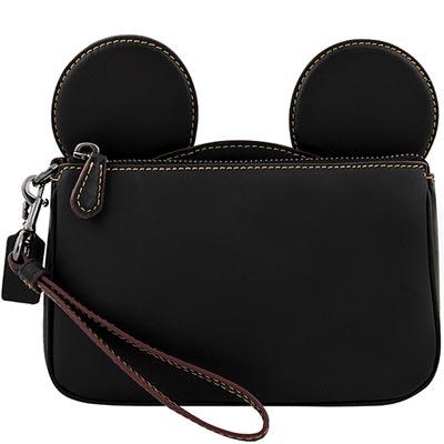 COACHXDISNEY聯名系列黑色MICKEY造型手拿包