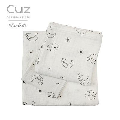 Cuz-晚安倒數(紗布巾)30cm-2入