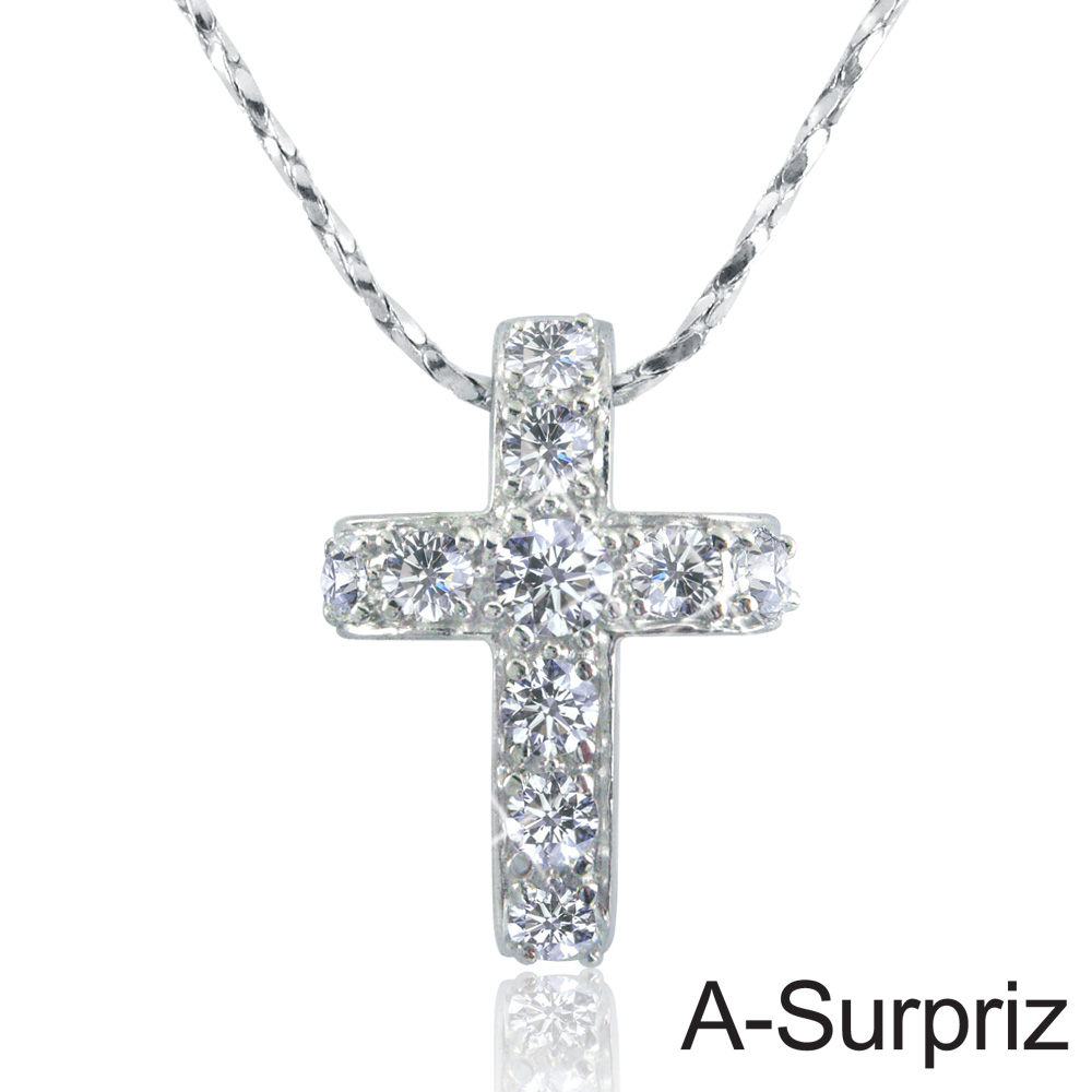 A-Surpriz 十字愛戀鋯石項鍊