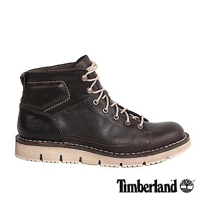 Timberland 男款深咖啡色粒面Westmore綁帶休閒鞋