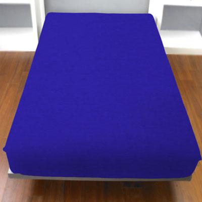 Yvonne Collection細條紋雙人純棉床包-藍