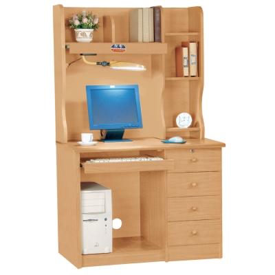 品家居 資訊家3.5尺山毛櫸電腦書桌全組(上+下座)