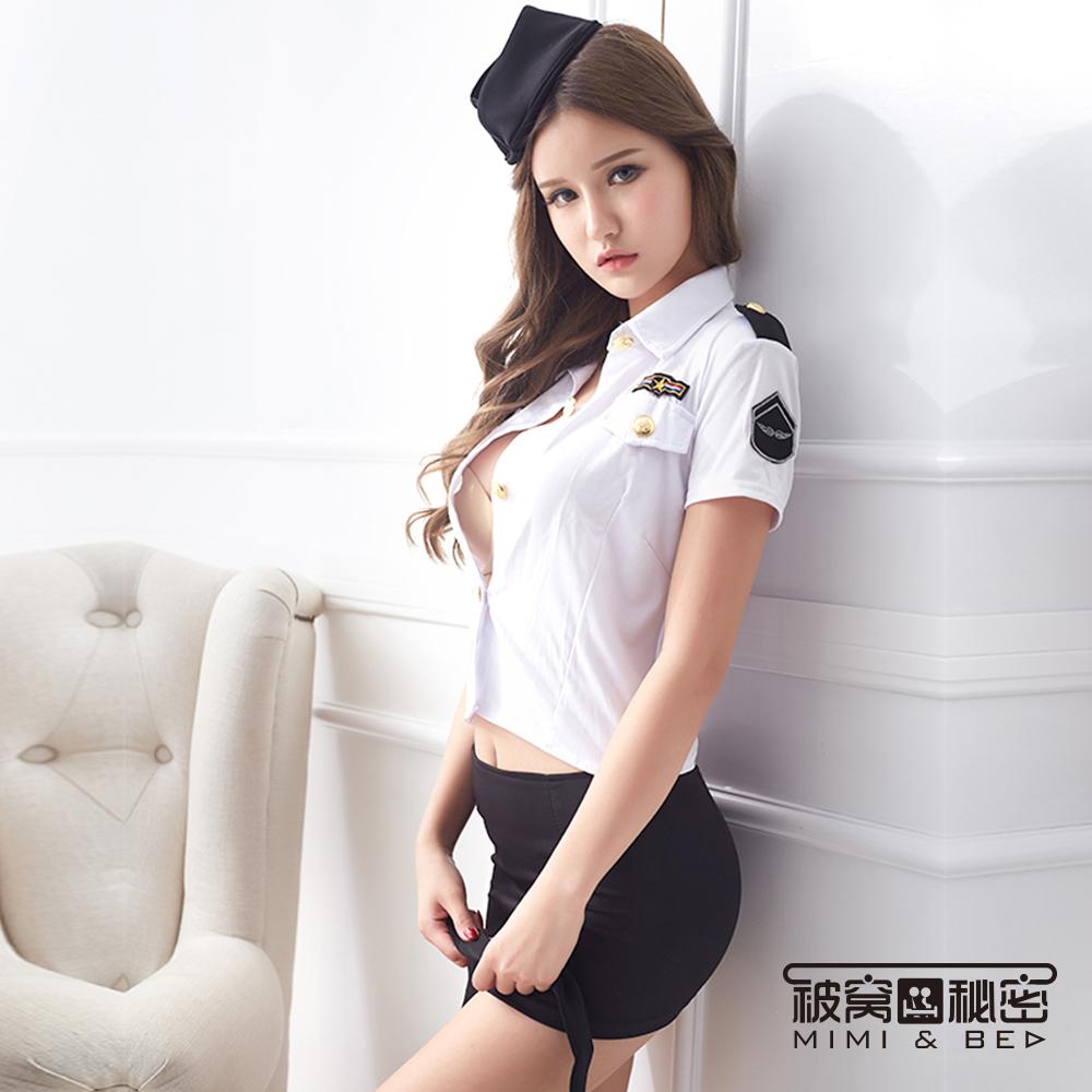 角色扮演服 寶貝甜心空姐制服。黑白 被窩的秘密