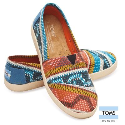 TOMS 馬賽克風撞色懶人鞋-女款