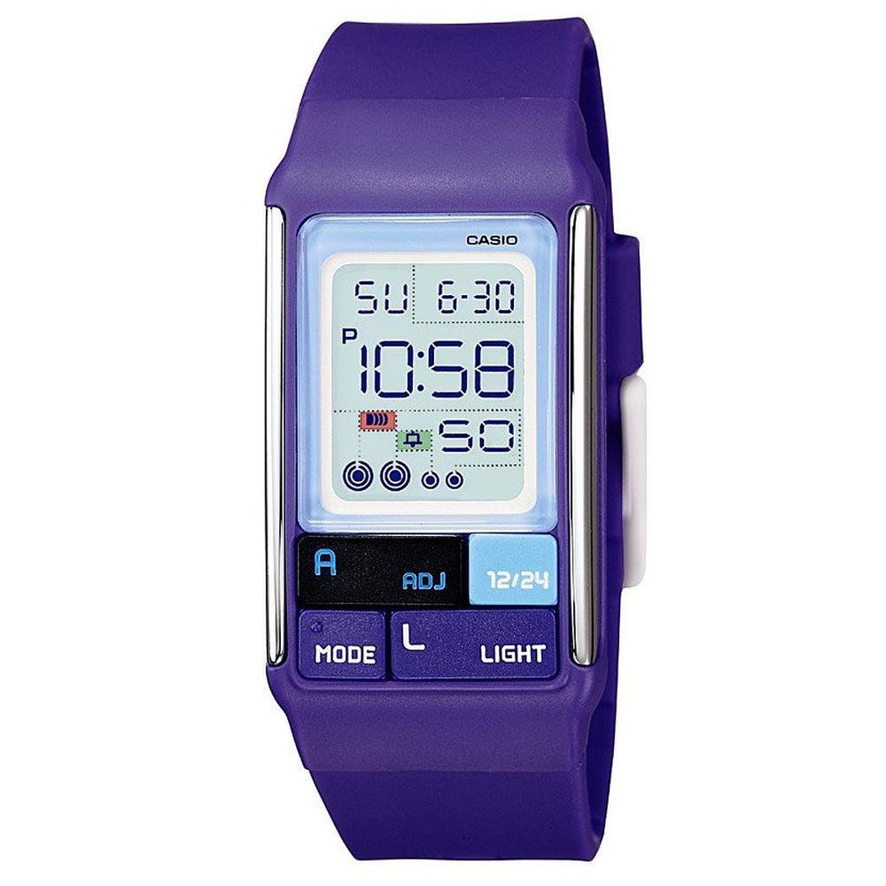 CASIO 新幾何積木方塊數字錶(LDF-52-6A)-紫/23.6mm