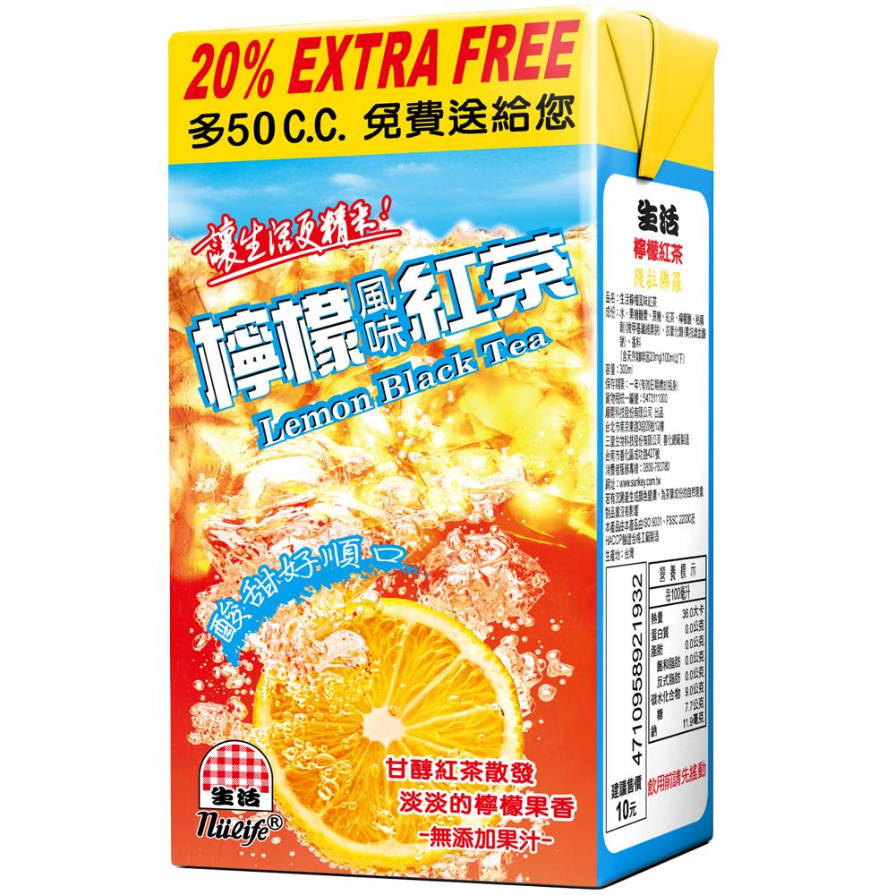 生活 檸檬紅茶(300ccx24入)