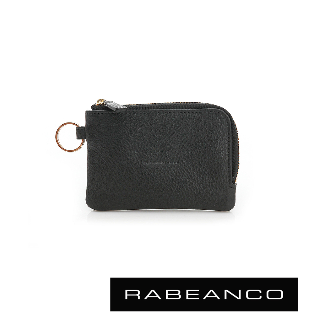 RABEANCO 經典小牛皮萬用鑰匙零錢包 – 黑