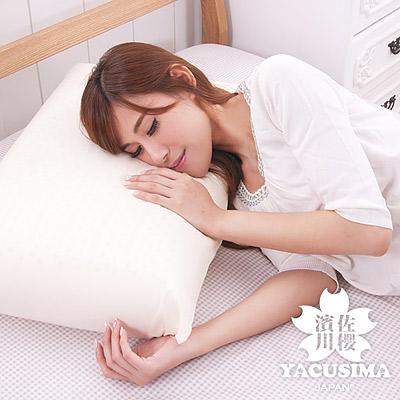 日本濱川佐櫻-和風素雅 大尺寸AA級蜂巢平面天然乳膠枕-1入