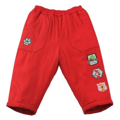 愛的世界 MYBEAR 動物圖標防風舖棉鬆緊帶長褲/6-8歲-中國製-