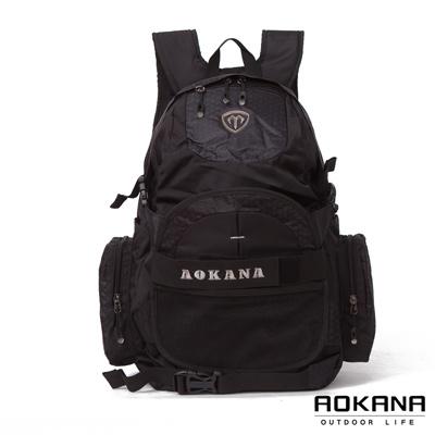 AOKANA奧卡納 台灣釦具 護脊紓壓電腦後背包 可收納籃球(銀灰標)68-069