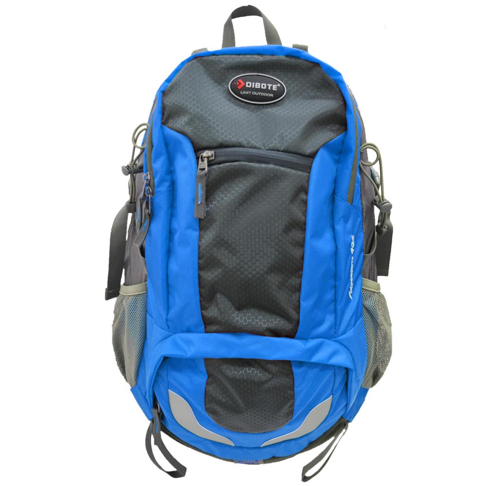 迪伯特DIBOTE 人體工學40L登山背包/登山包(藍)