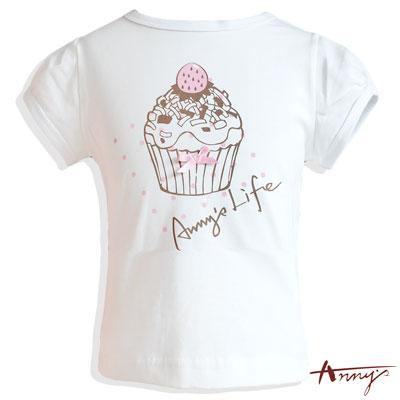 Annys夢幻草莓杯子蛋糕短袖上衣*3338白