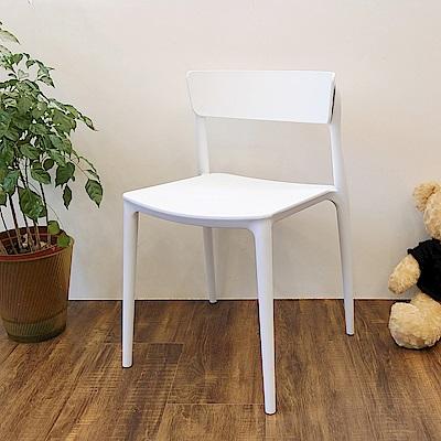 Amos-簡約樂活塑膠休閒椅4入-44x44x75
