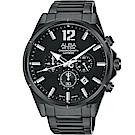 ALBA雅柏 ACTIVE 活力運動計時手錶(AT3D29X1)-鍍黑/43mm