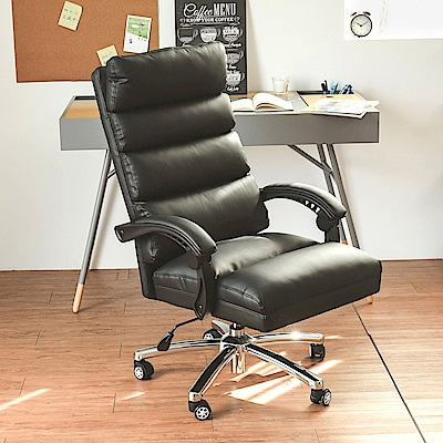 Home Feeling 電腦椅/主管椅/辦公椅/皮革-63x49x114cm