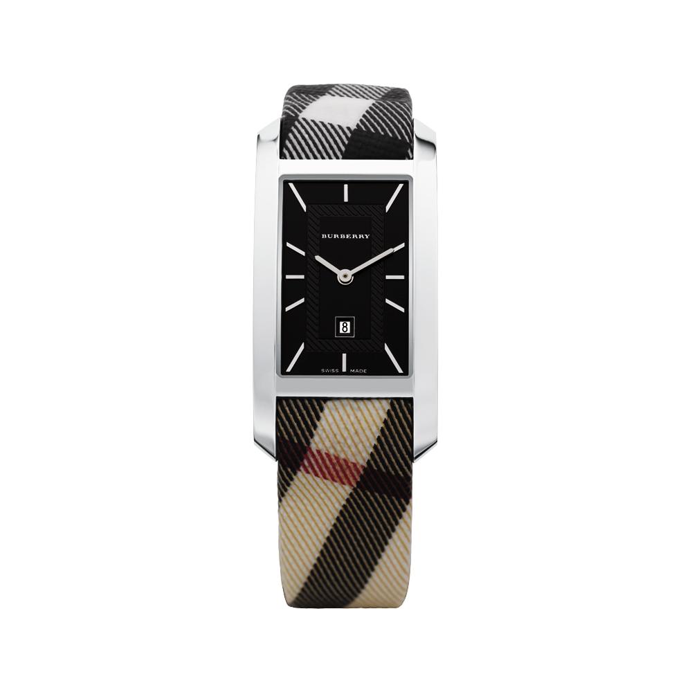 BURBERRY Heritage 英倫經典系列格紋中性錶(黑)