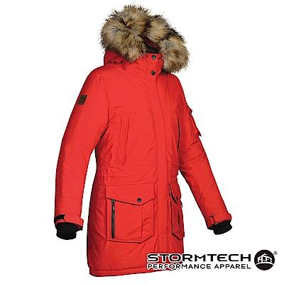 【加拿大STORMTECH】EPK-2W頂級全防水透氣極地探險家毛圈長版大衣-女-紅