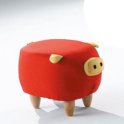 AS-紅豬造型椅凳-50x32x36cm