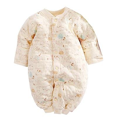 魔法Baby 動物印花三層棉嬰兒護手兔裝 黃 k60630