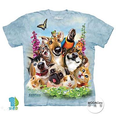 摩達客 美國進口The Mountain 寵物們哦耶 純棉環保短袖T恤