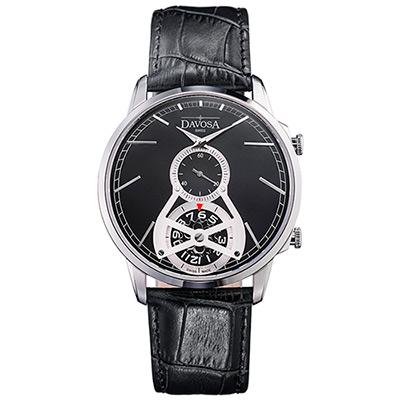DAVOSA Cuore? COLLECTIO –經典雙??GMT系列腕錶-黑面/42mm