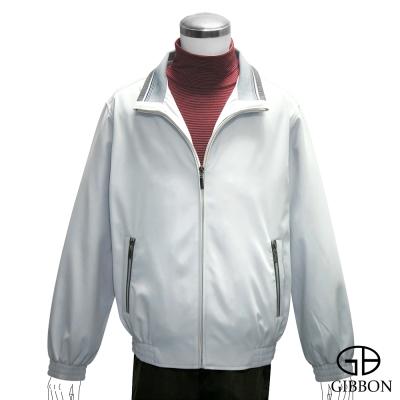 GIBBON 百搭立領雙層口袋輕薄外套‧亮灰M~3L