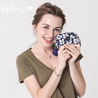 Kipling 零錢包 夏日花卉撞色印花-小