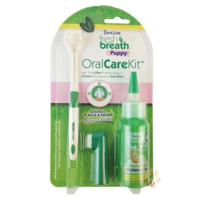 美國Fresh breath『鮮呼吸』潔牙凝膠組-幼犬專用 1入