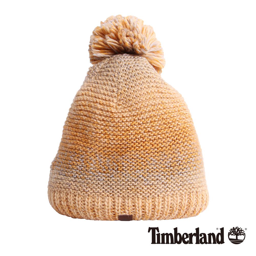 Timberland女款橘黃色漸層毛帽