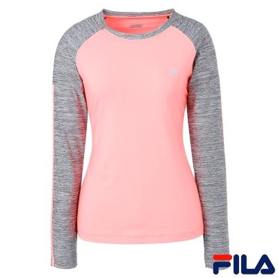 FILA女T恤-螢桔-蓄光纖維-5TEQ-5318-OR