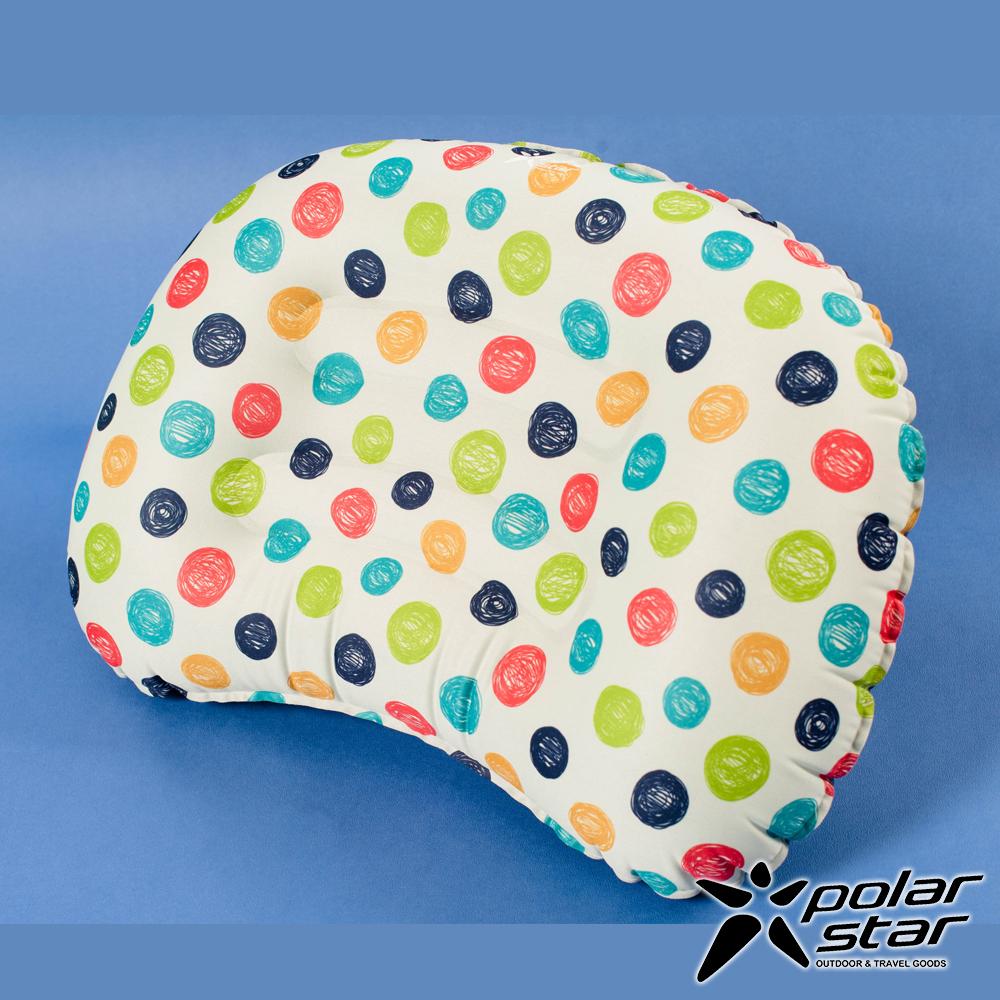 【PolarStar】旅行吹氣枕│午睡枕│腰靠枕『圓點』P17736