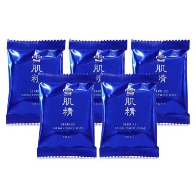 KOSE高絲 雪肌精晶透潤白潔顏皂10g*5
