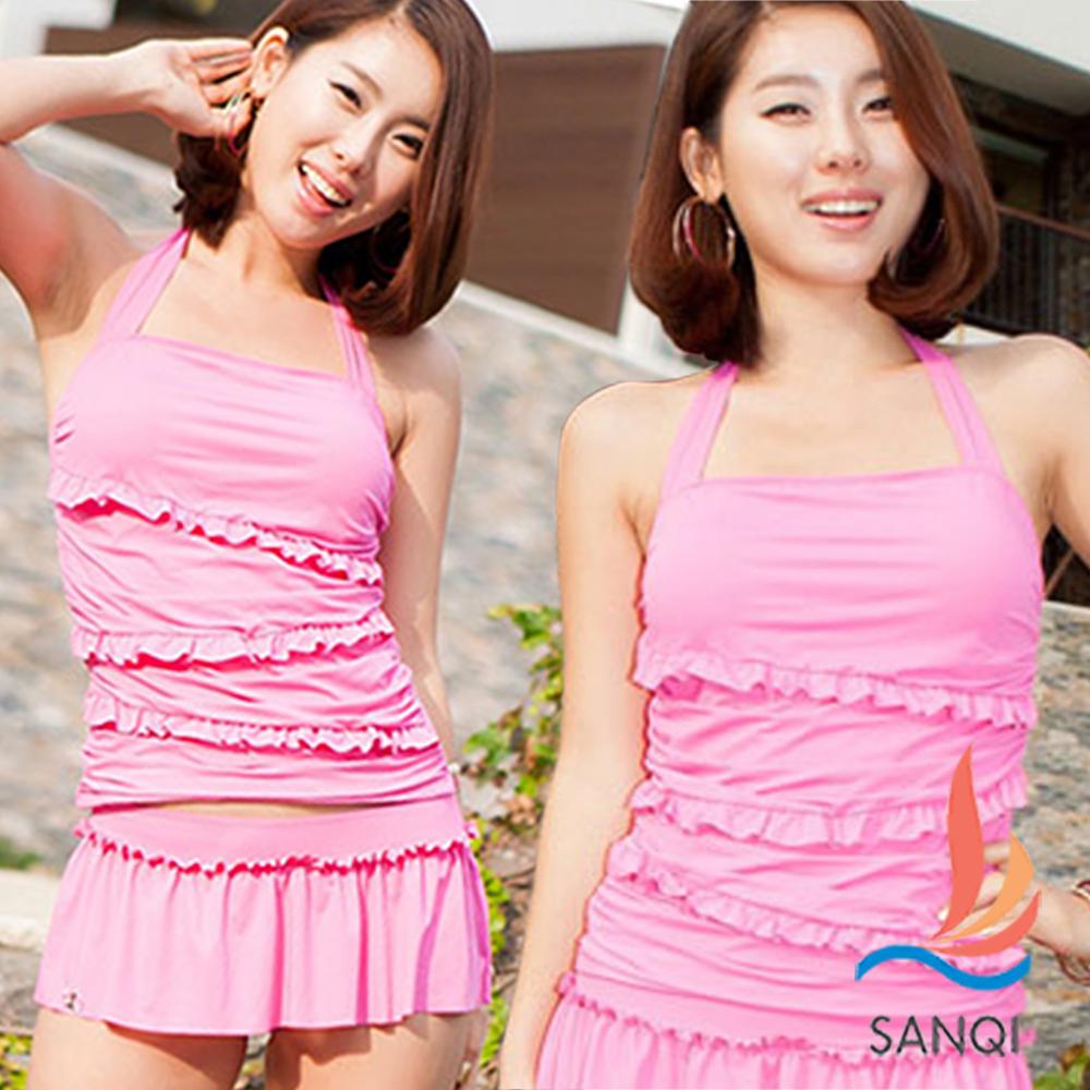 SANQI三奇 涼夏派對 兩件式泳裝(粉M~XL)