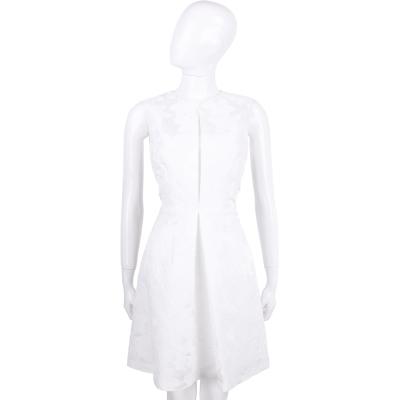 BLUGIRL 白色繡花無袖洋裝