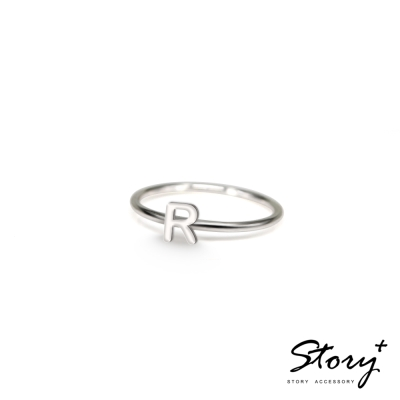 STORY ACCESSORY-字母系列-字母R 純銀戒指