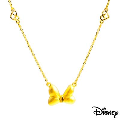 Disney迪士尼金飾 蝴蝶結黃金項鍊