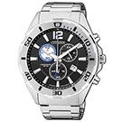 CITIZEN 經典賽車概念三眼計時腕錶(AN7110-56E)-黑/43mm