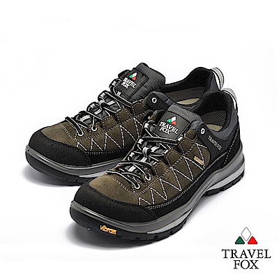 TRAVEL FOX(男) 看山是山 歐洲進口耐冷熱防滑戶外登山鞋- 灰黑色