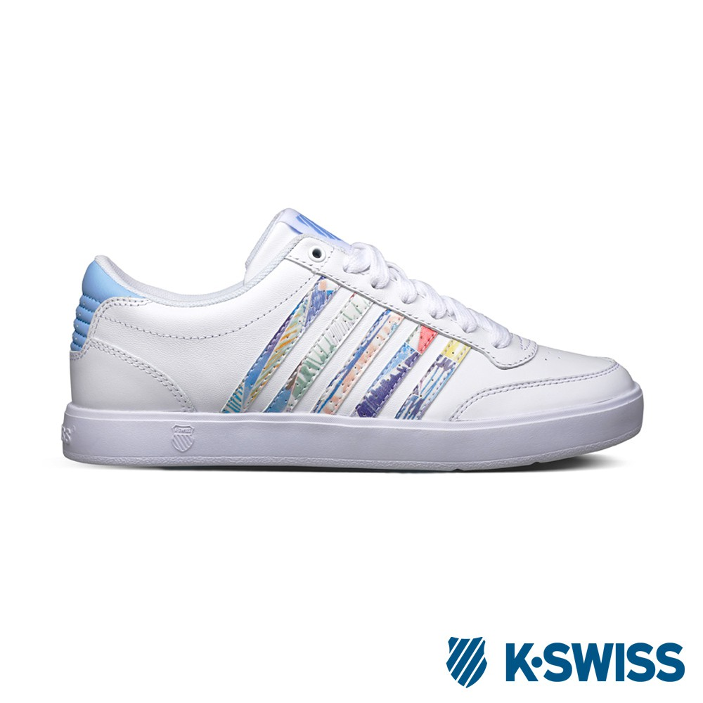K-Swiss Court Lite CMF休閒運動鞋-女-白/圖騰