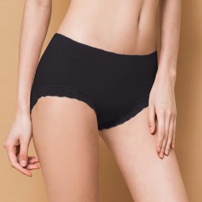內褲 微性感蕾絲抗敏M-XL內褲 神秘黑 可蘭霓Clany