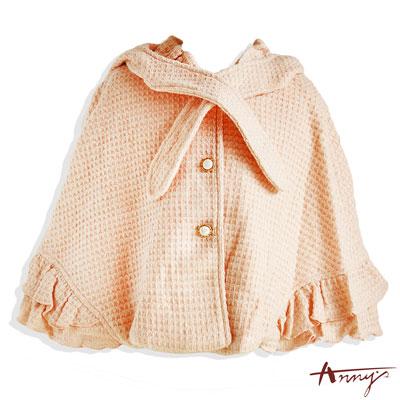 小香風珍珠釦荷葉袖擺披風*4265粉