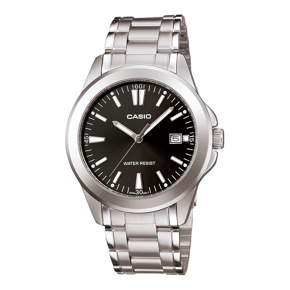 CASIO 時尚成熟型男腕錶(MTP-1215A-1A2)-黑/37mm