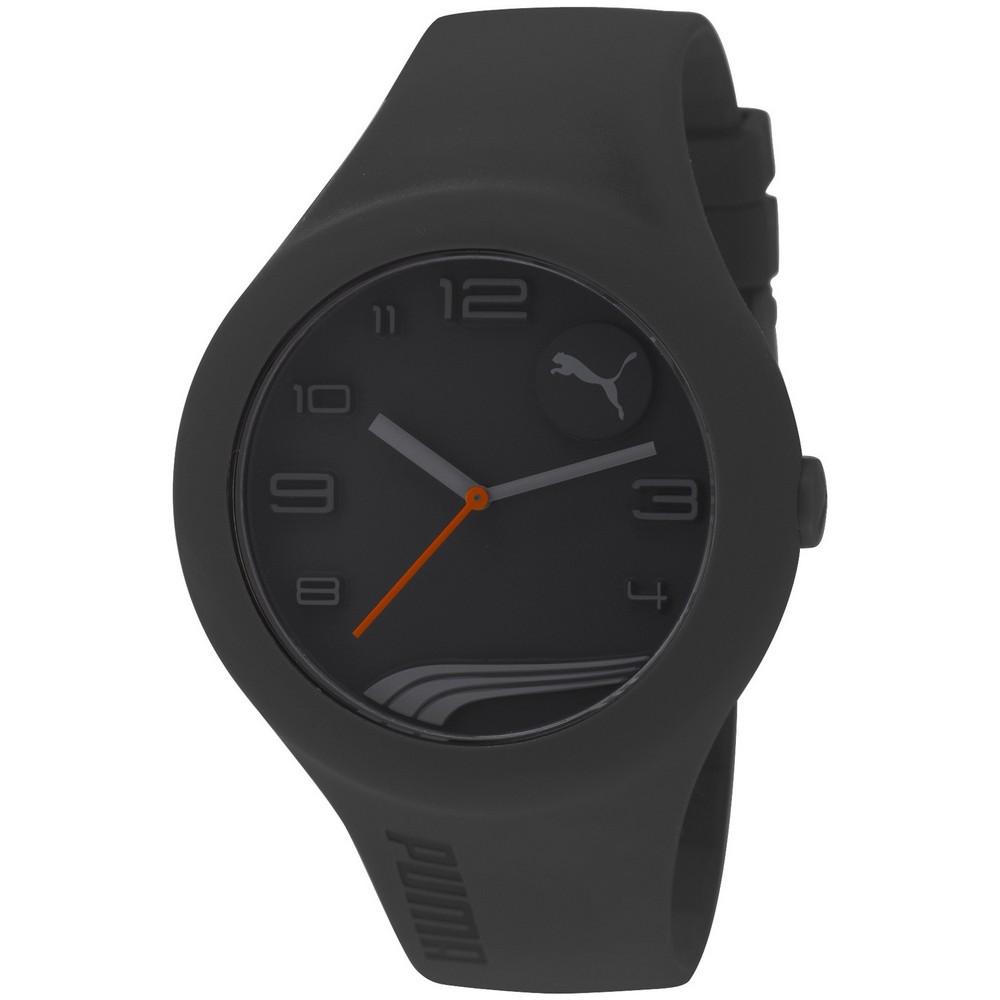 PUMA 動感延伸運動腕錶-黑/47mm