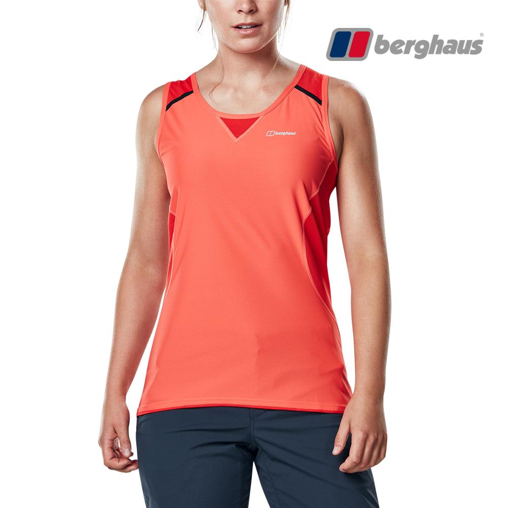 【Berghaus貝豪斯】女款銀離子除臭抗菌抗UV背心S03F02-橘