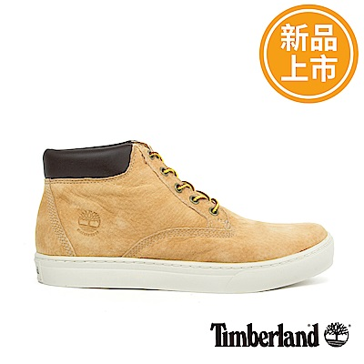 Timberland 男款卡其色皮革戶外休閒鞋