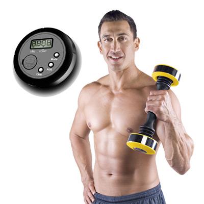Shake Weight 男性專用搖擺鈴+計數器專業組(金黃版)