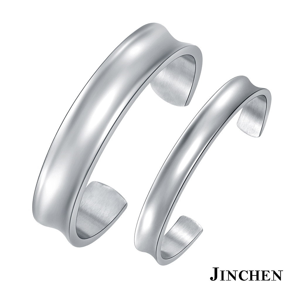 JINCHEN 白鋼愛情光芒 情侶手環